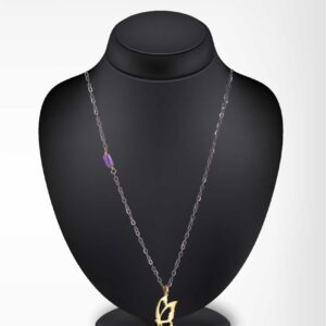 Gold plated butterfly chain necklace / Amethyst chain / Oxidized silver chain