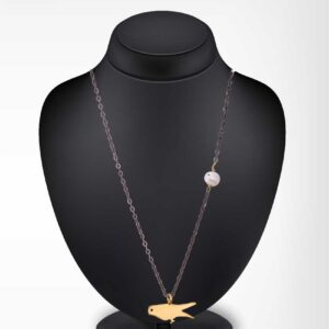 Dove chain necklace / Oxidized silver chain / Gold plated dove chain