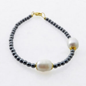 Bracelet with Hematite and Pearls