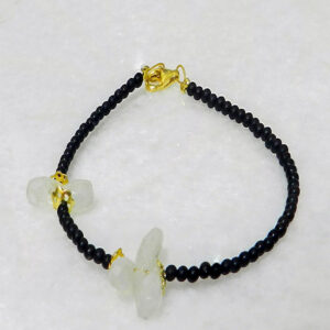 Bracelet with Onyx and Moonstone