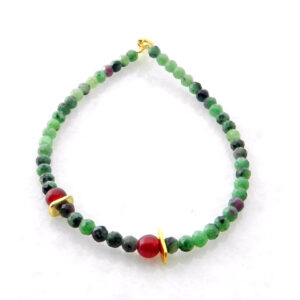 Bracelet with Zoisite and Jade