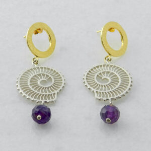 Exquisite Earrings with Amethyst