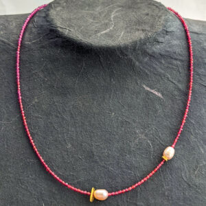Necklace with Agate and Pearls