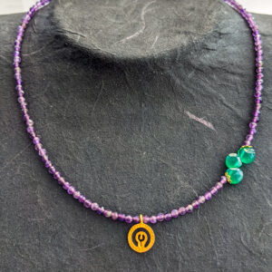 Necklace with Amethyst and Jade