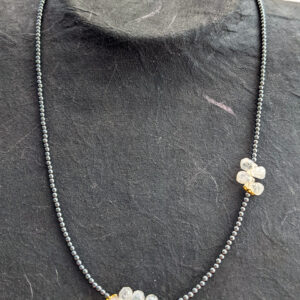 Necklace with Hematite and Moonstone