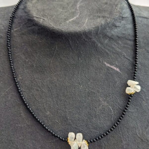 Necklace with Onyx and Moonstone