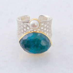 Open Band Apatite Ring