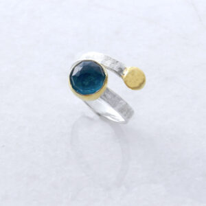 Faceted Round Apatite Ring